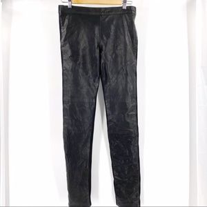 Graham & Spencer lambskin leather pants black